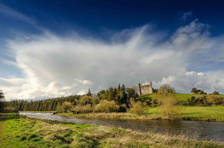 Dunmoe Castle Overlooking The Boyne River