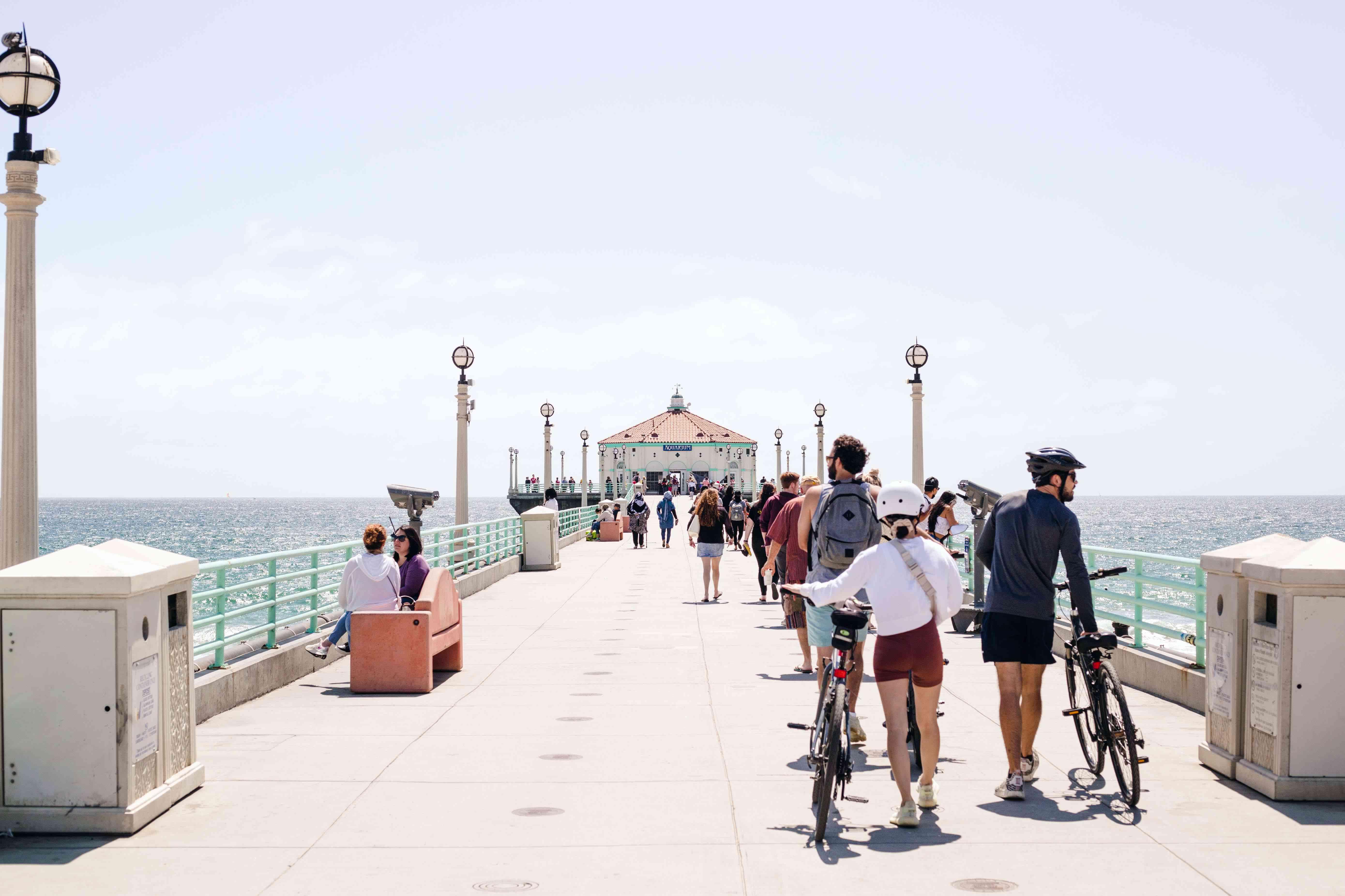 Manhattan Beach Pier in Los Angeles, CA