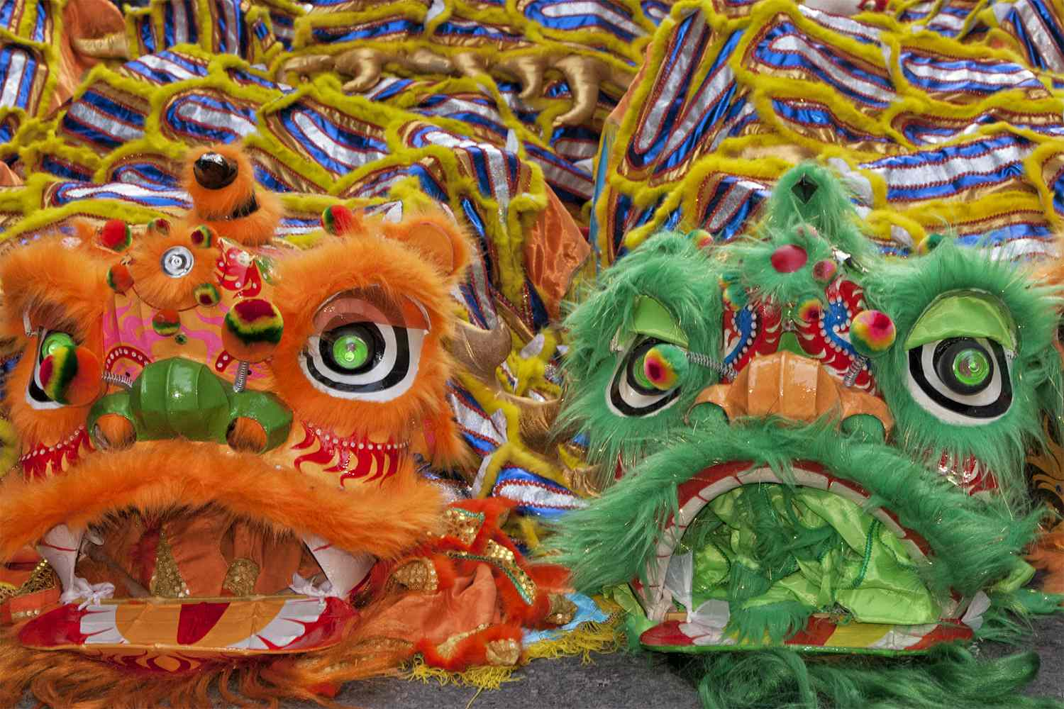 Dragon Dancer Costumes for San Francisco's Chinese New Year Parade
