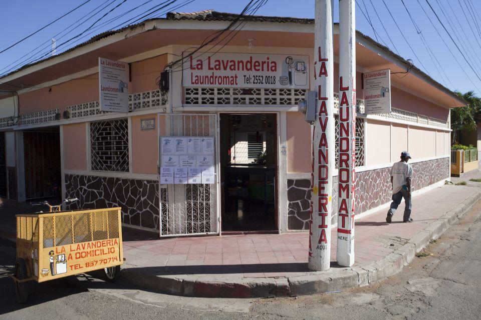 A typical lavanderia laundry service in Peru