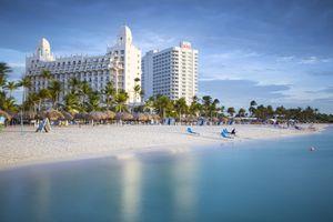 Caribbean, Netherland Antilles, Aruba, Palm Beach, Luxury Hotel and Resort