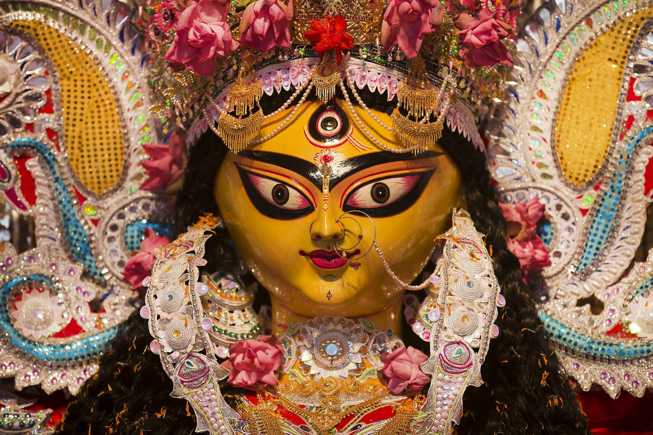 Durga Puja idol closeup.