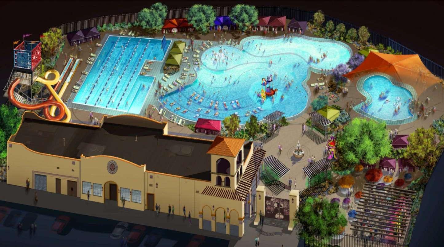 Chapoteo water park in El Paso