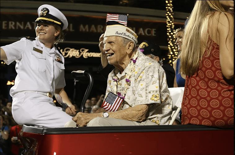 Pearl Harbor Memorial Parade in action