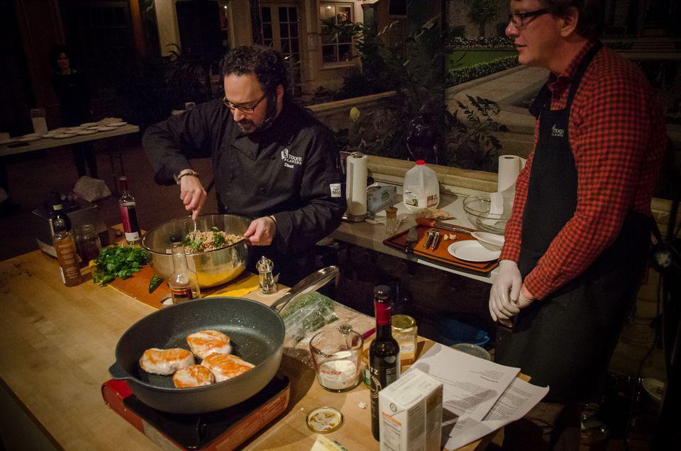 A cooking class in Half Moon Bay, California