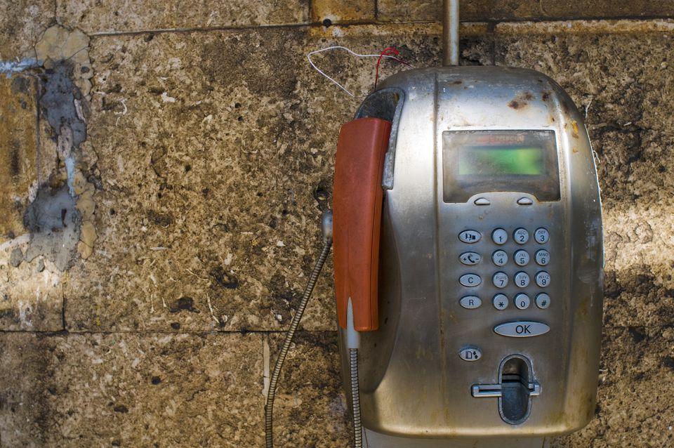 Payphone, Cinque Terre, Italy