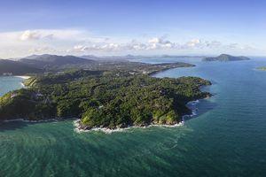 Panorama Top view of Phuket island
