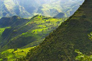 Landscape in Simien Mountain