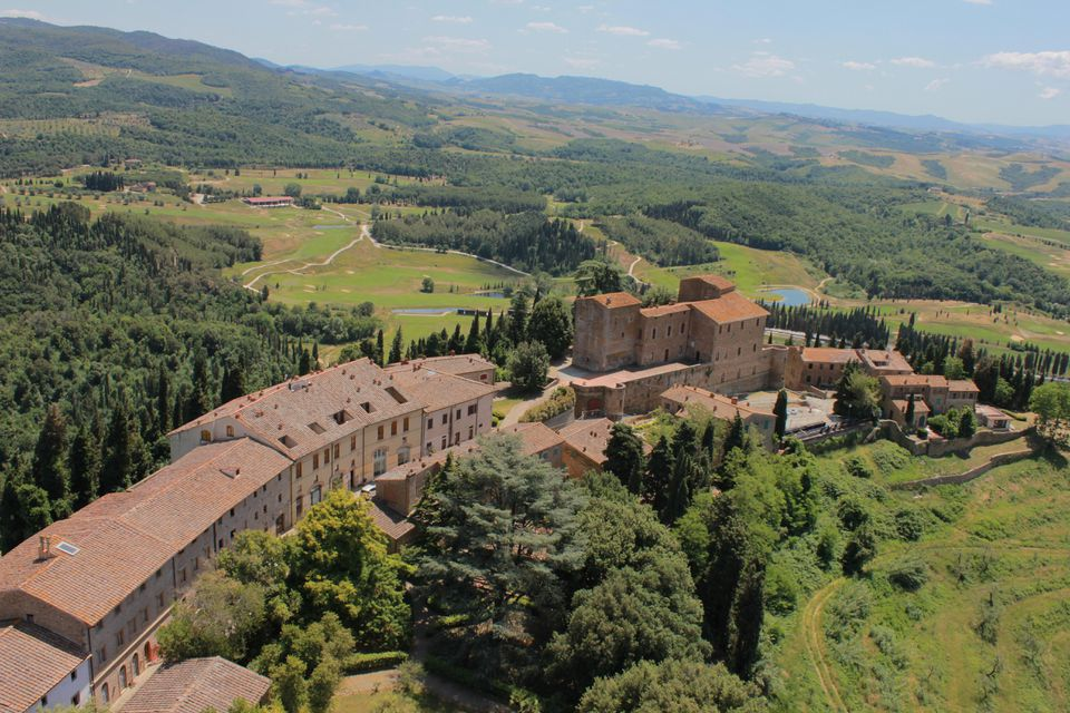 The 2,700-acre Tocana Resort Castelfalfi sits in the Tuscan hills.