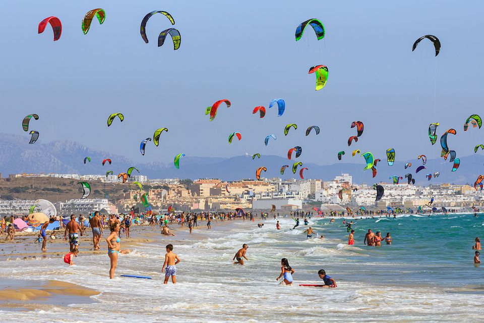 Kitesurfing on Tarifa beach