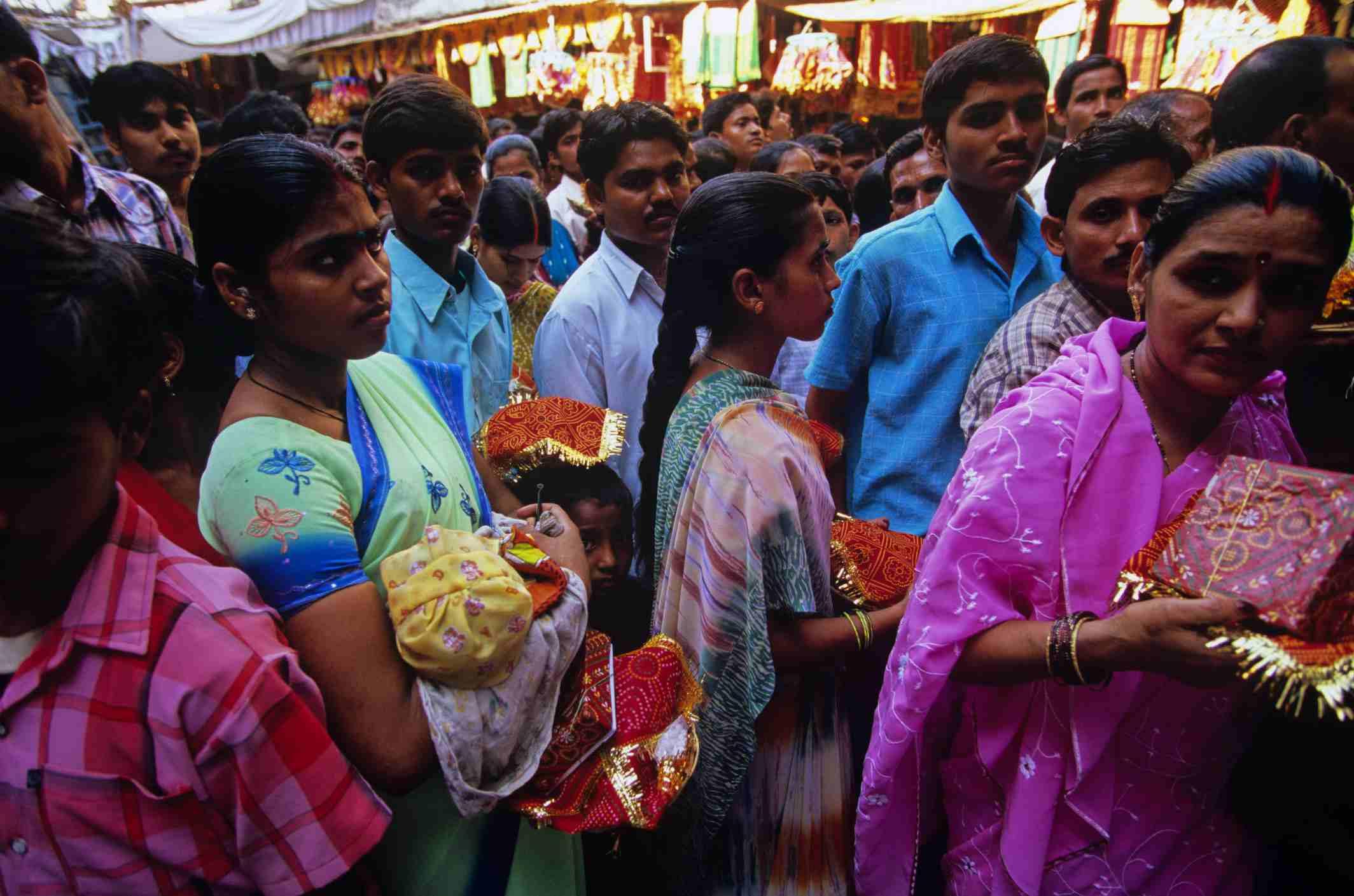 Mahalaxmi temple devotees, Mumbai.