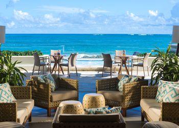 View of the ocean from the patio of the Condado Vanderbilt in San Juan, Puerto Rico.