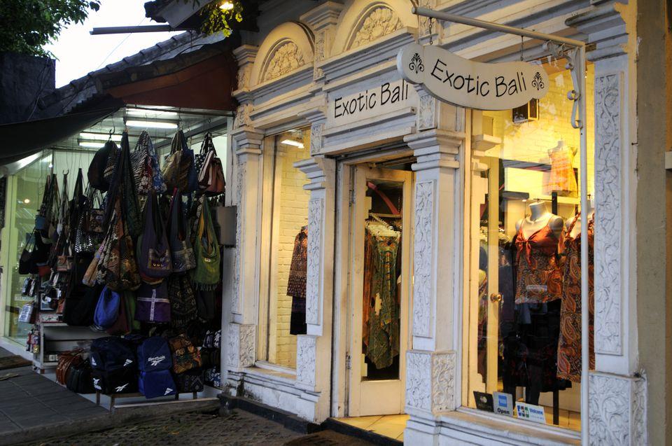 Shop along Jalan Legian, Bali