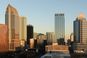 Tampa, Florida. View of downtown to north