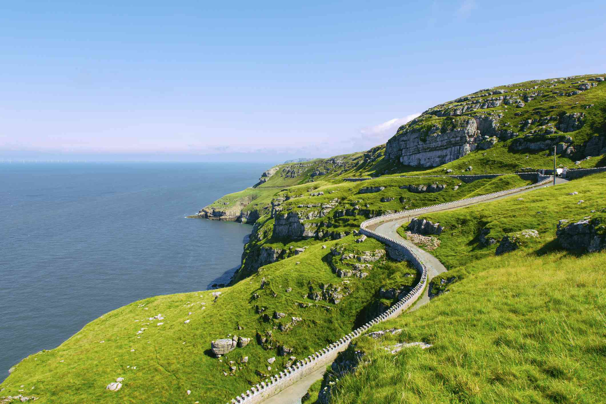 Winding road at Great Orme, North Wales