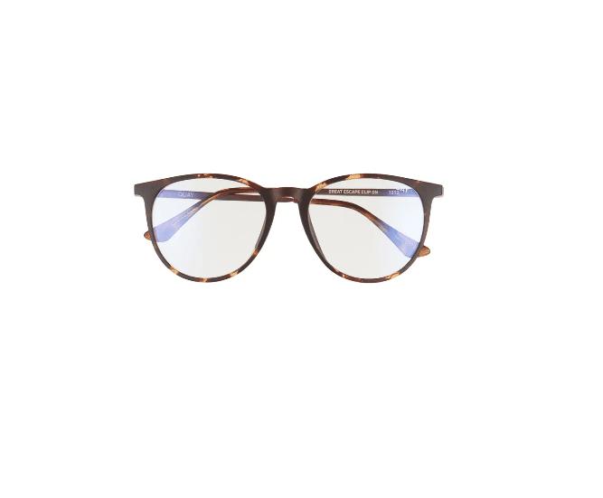 Quay Australia Great Escape 50mm Polarized Clip On Sunglasses