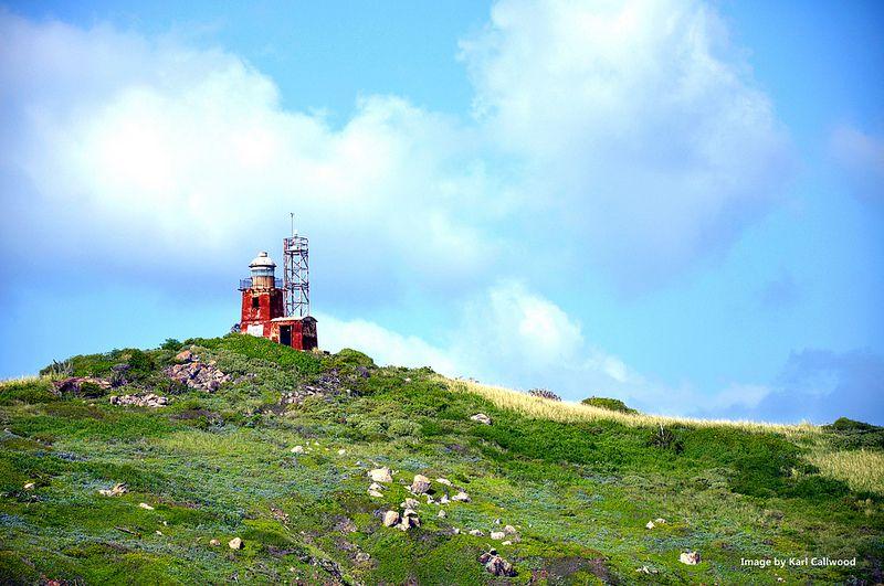 Buck Island lighthouse, St. Thomas, U.S. Virgin Islands.
