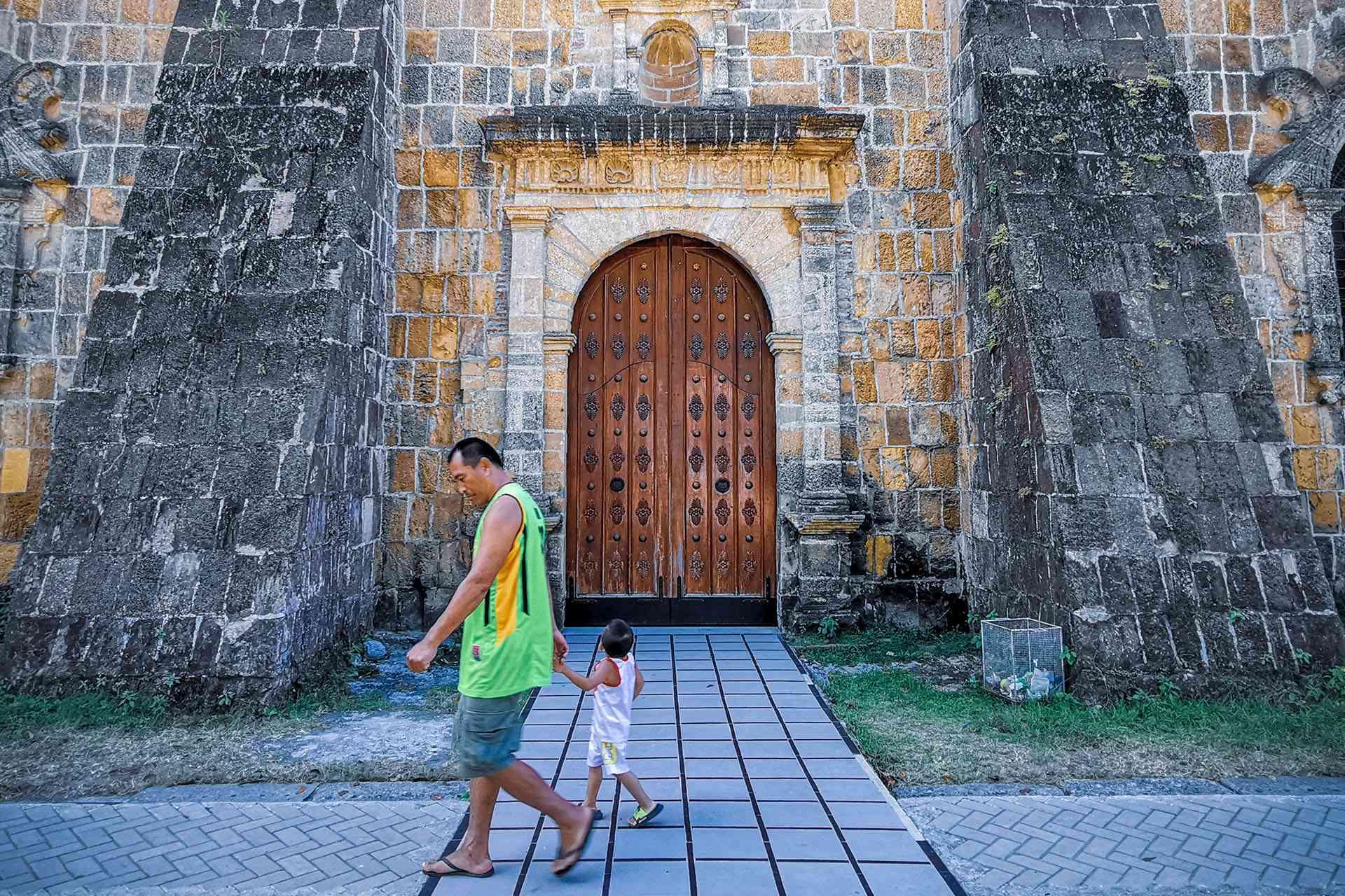 Door of Miag-ao Church, Iloilo, Philippines