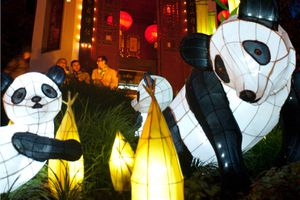 Lanterns at the Montreal Botanical Garden are installed and featured every fall season.