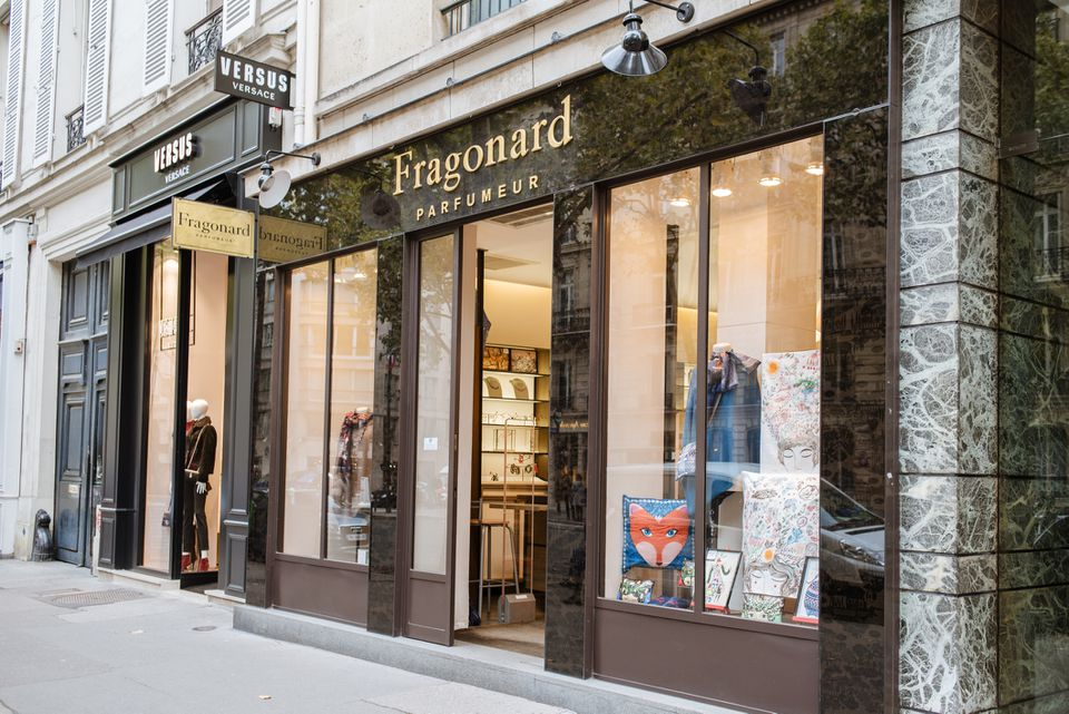 Perfume maker Fragonard's Paris shop