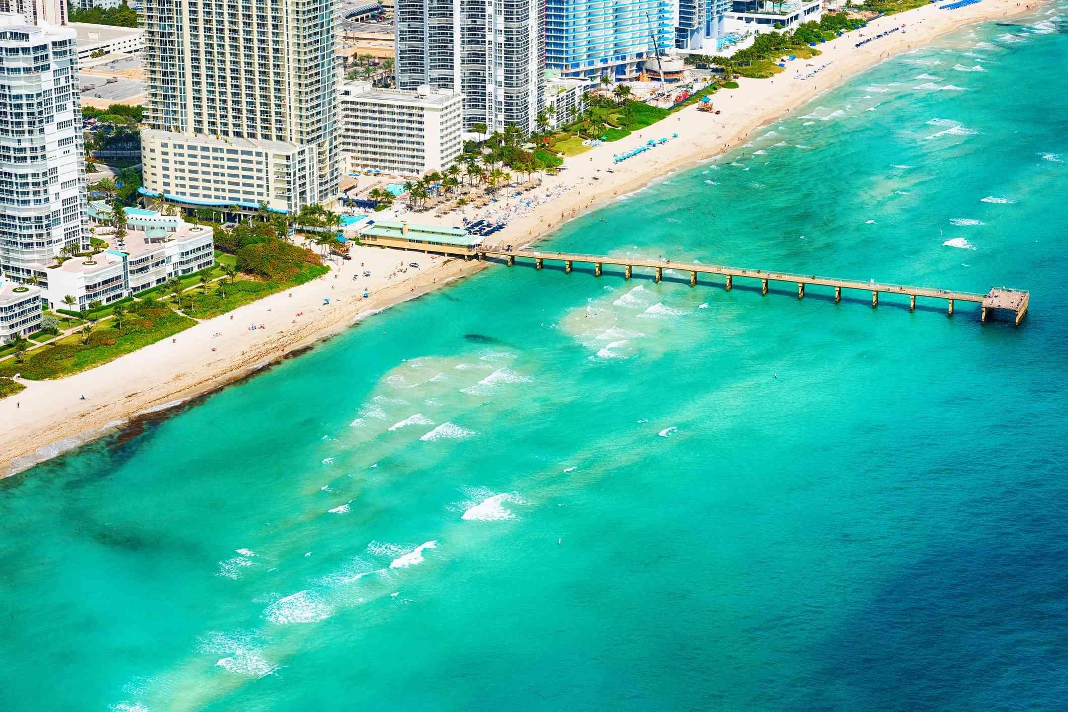 North Miami Beach Pier From Above