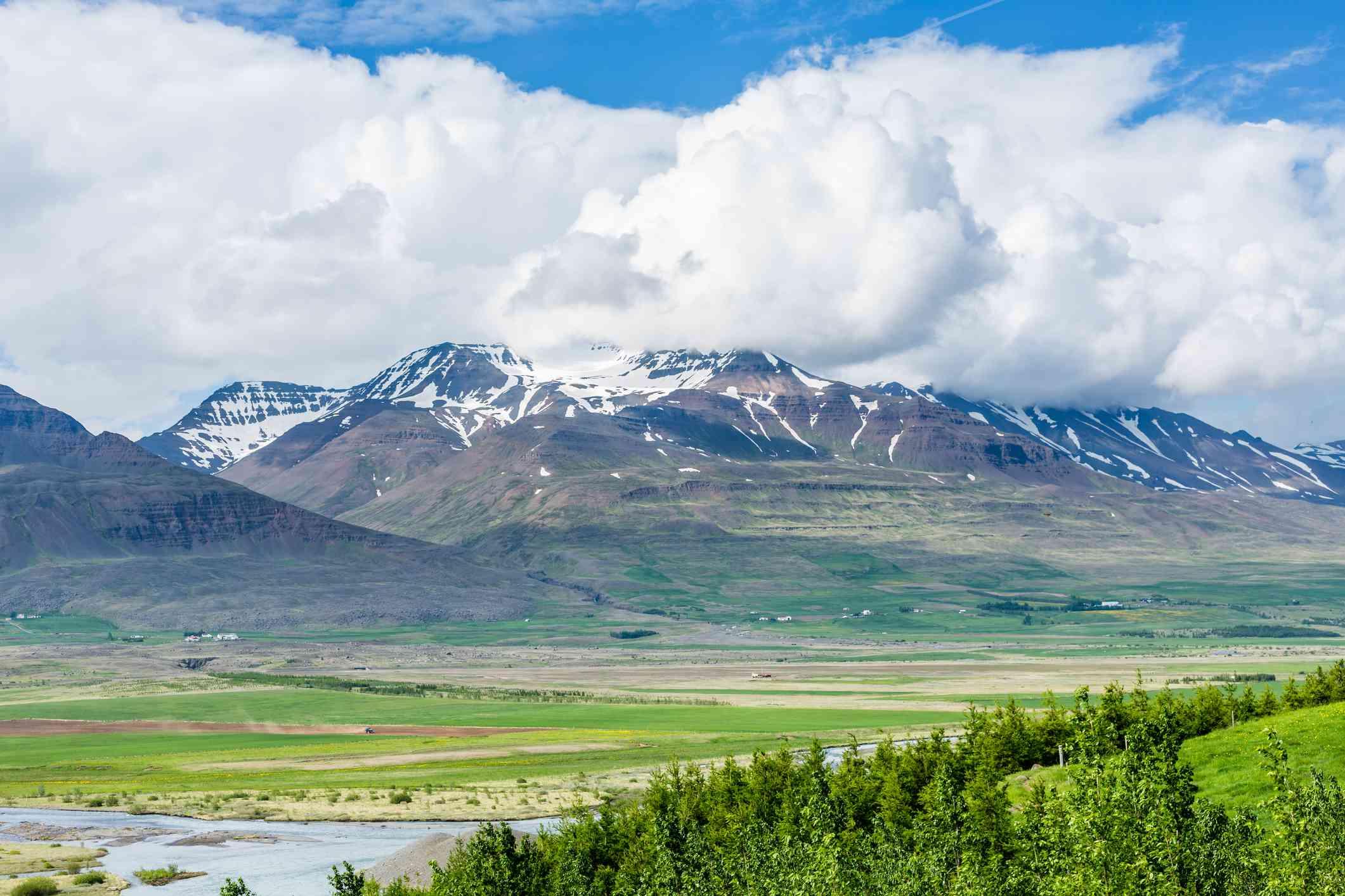 Mt. Kerling in Eyjafjordur Iceland