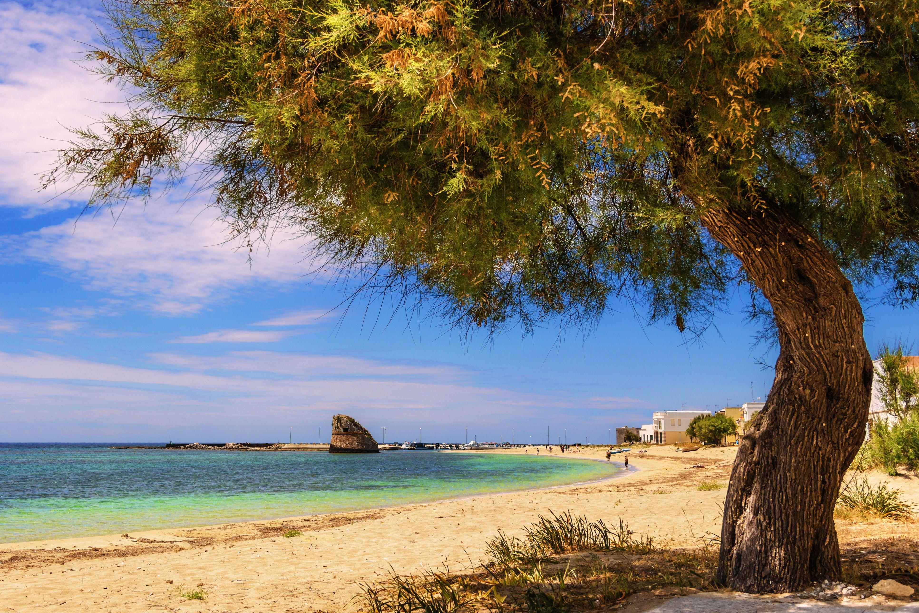 Torre Pali beach on Salento Peninsula
