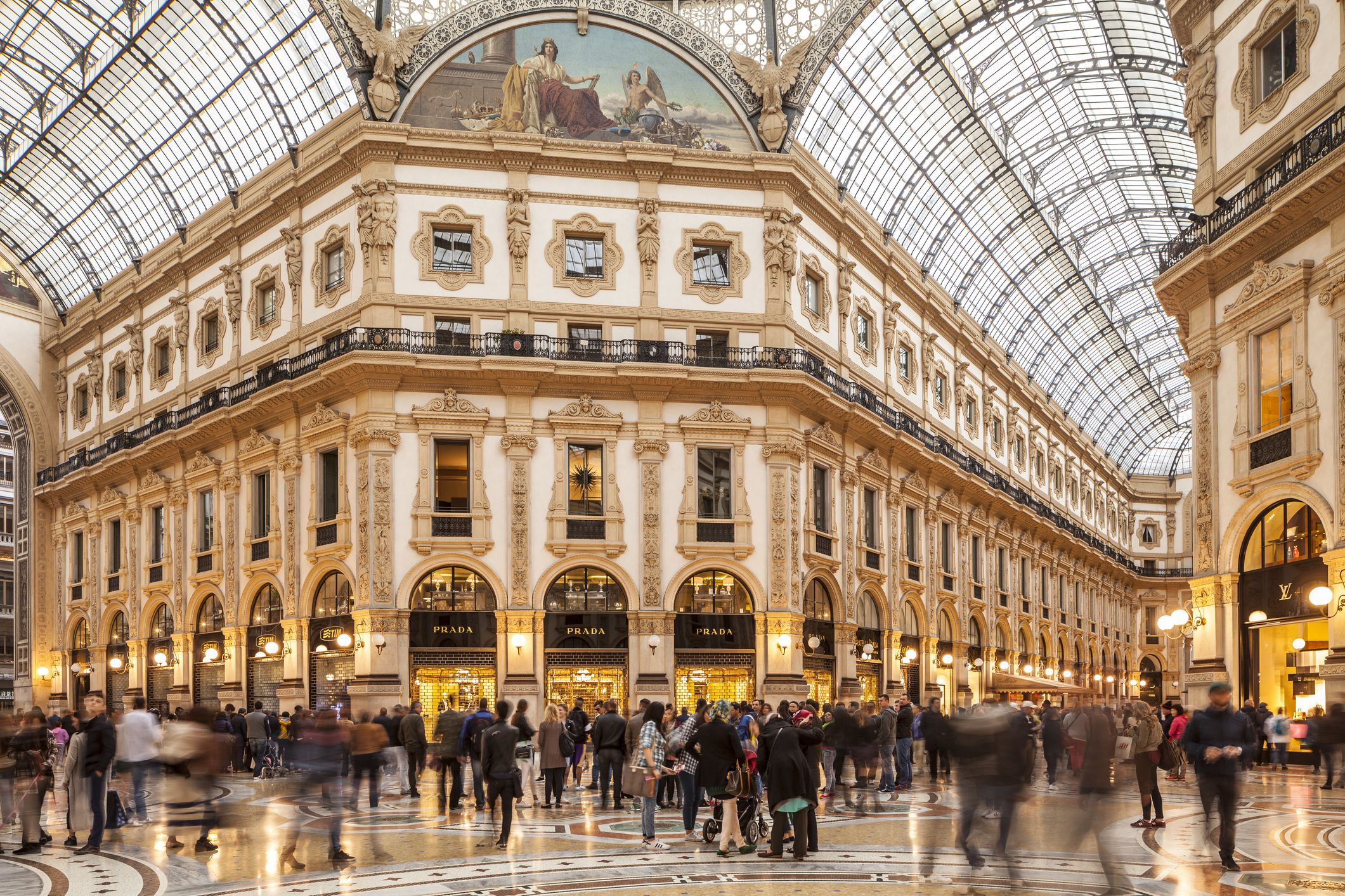 The Galleria Vittorio Emanuele II in central Milan, Lombardy, Italy, Europe