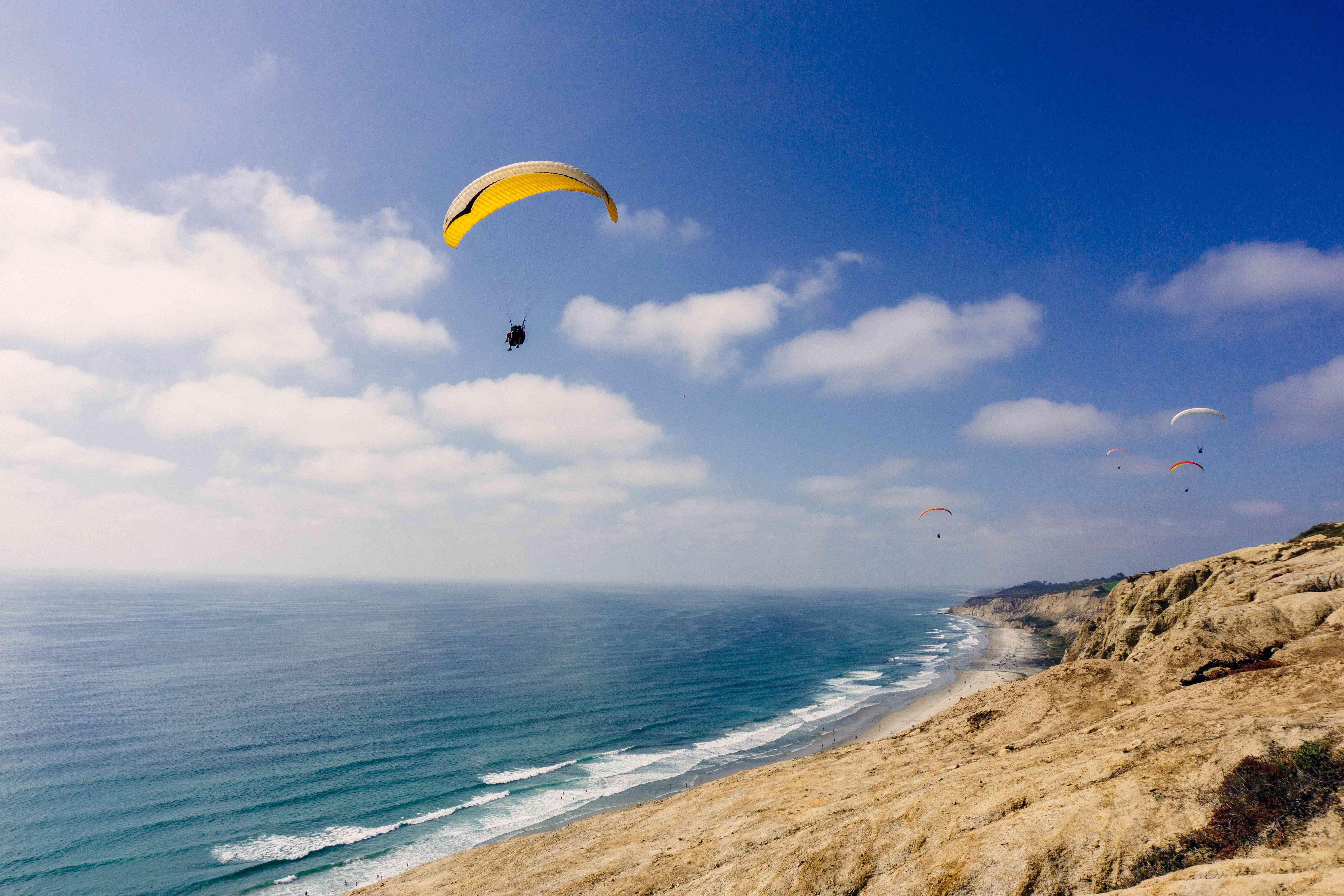 Paragliders over La Jolla
