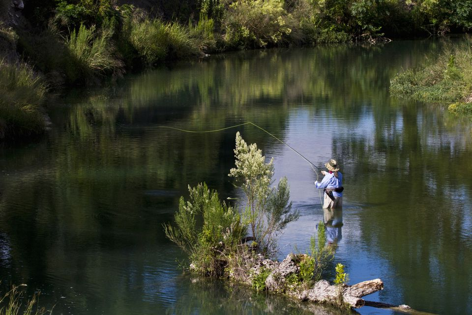 Man fishing in Texas