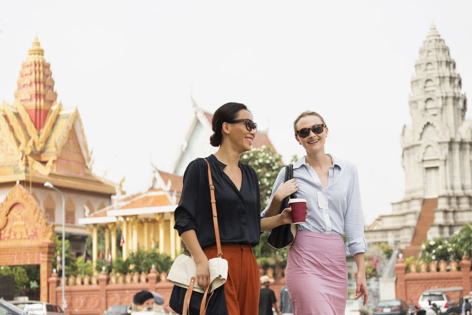Tourists exploring Phnom Penh
