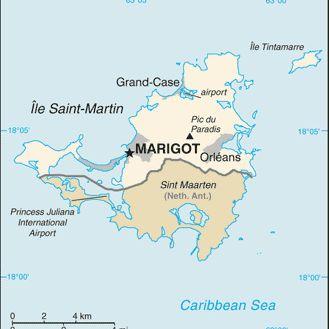 Saint Martin and Saint Maarten Map