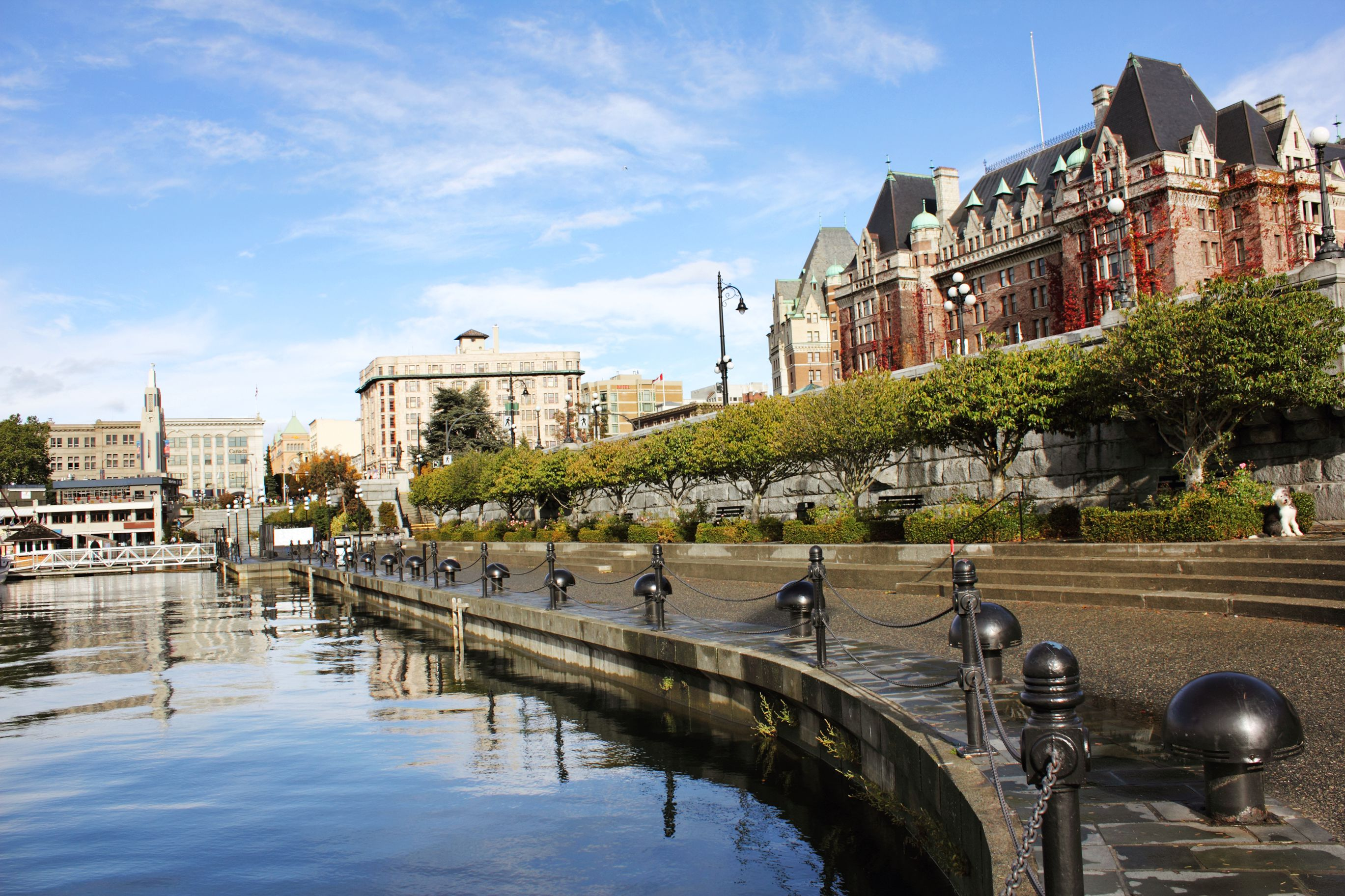 View of the city by the causeway in Victoria, Canada.
