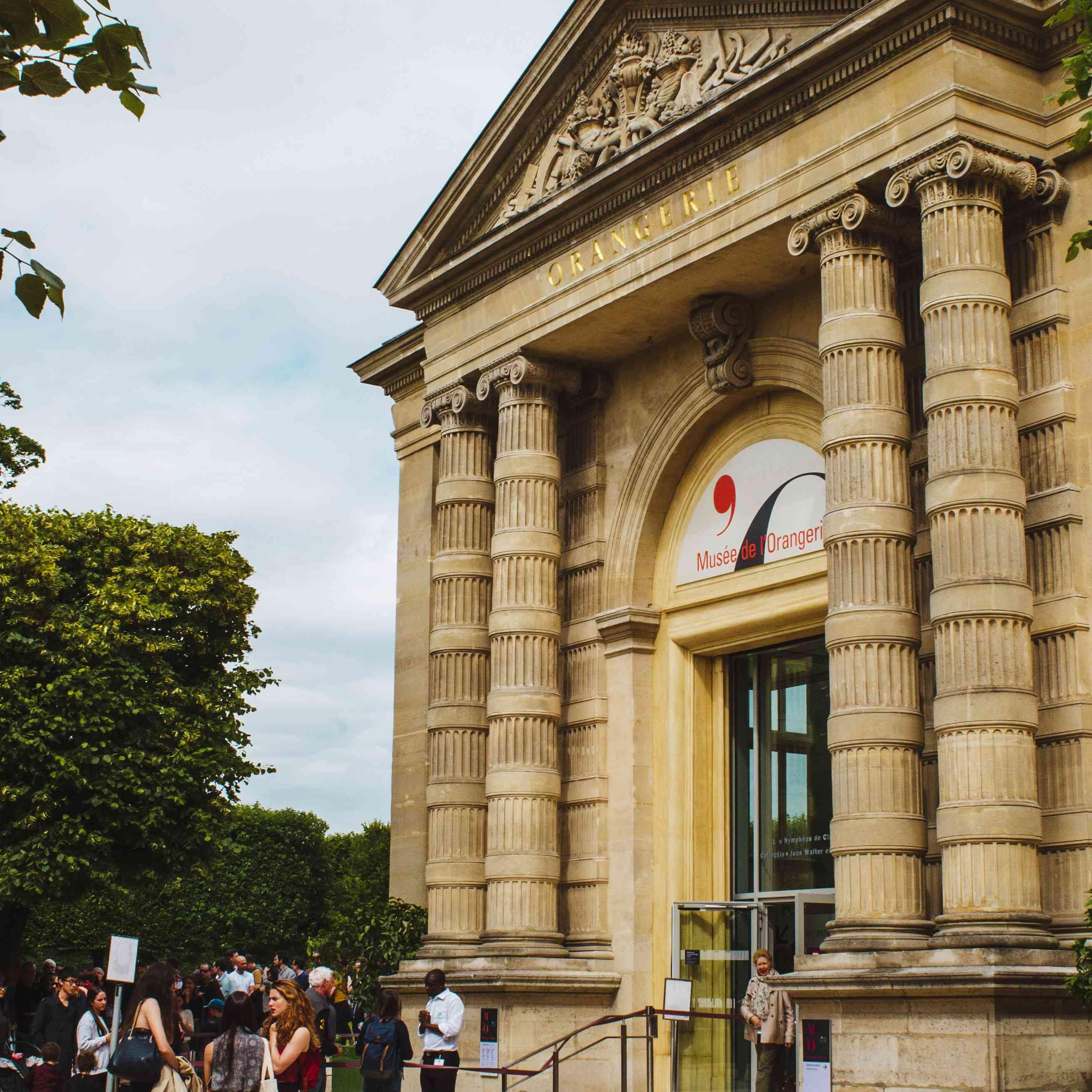 Entrance to Musee de L'Orangerie