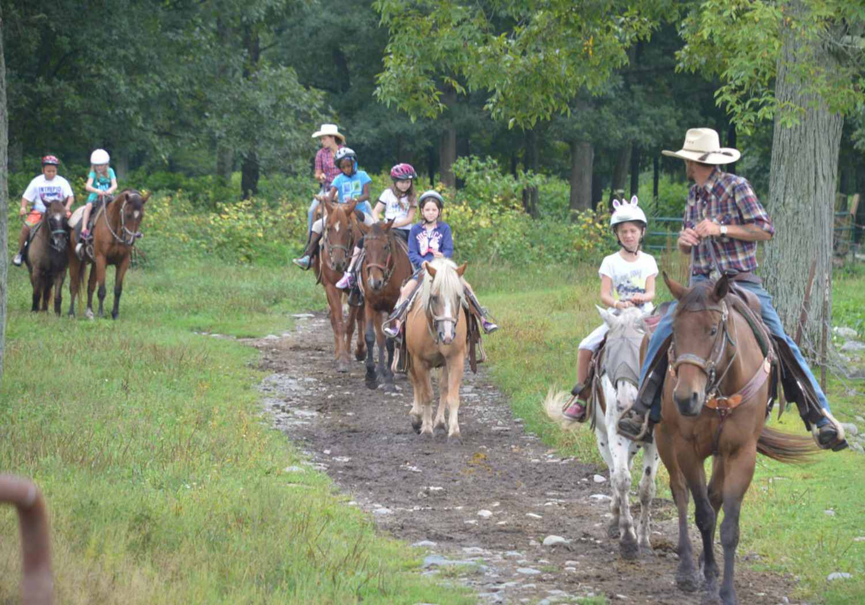 Pennsylvania dude ranch for families