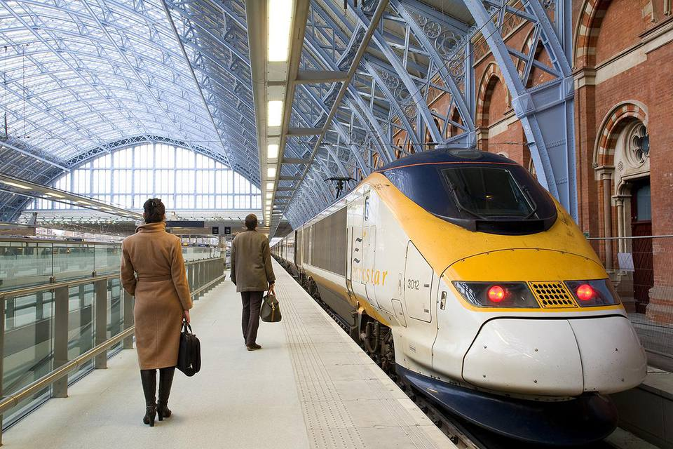United Kingdom, London, St Pancras International train station, Eurostar trains