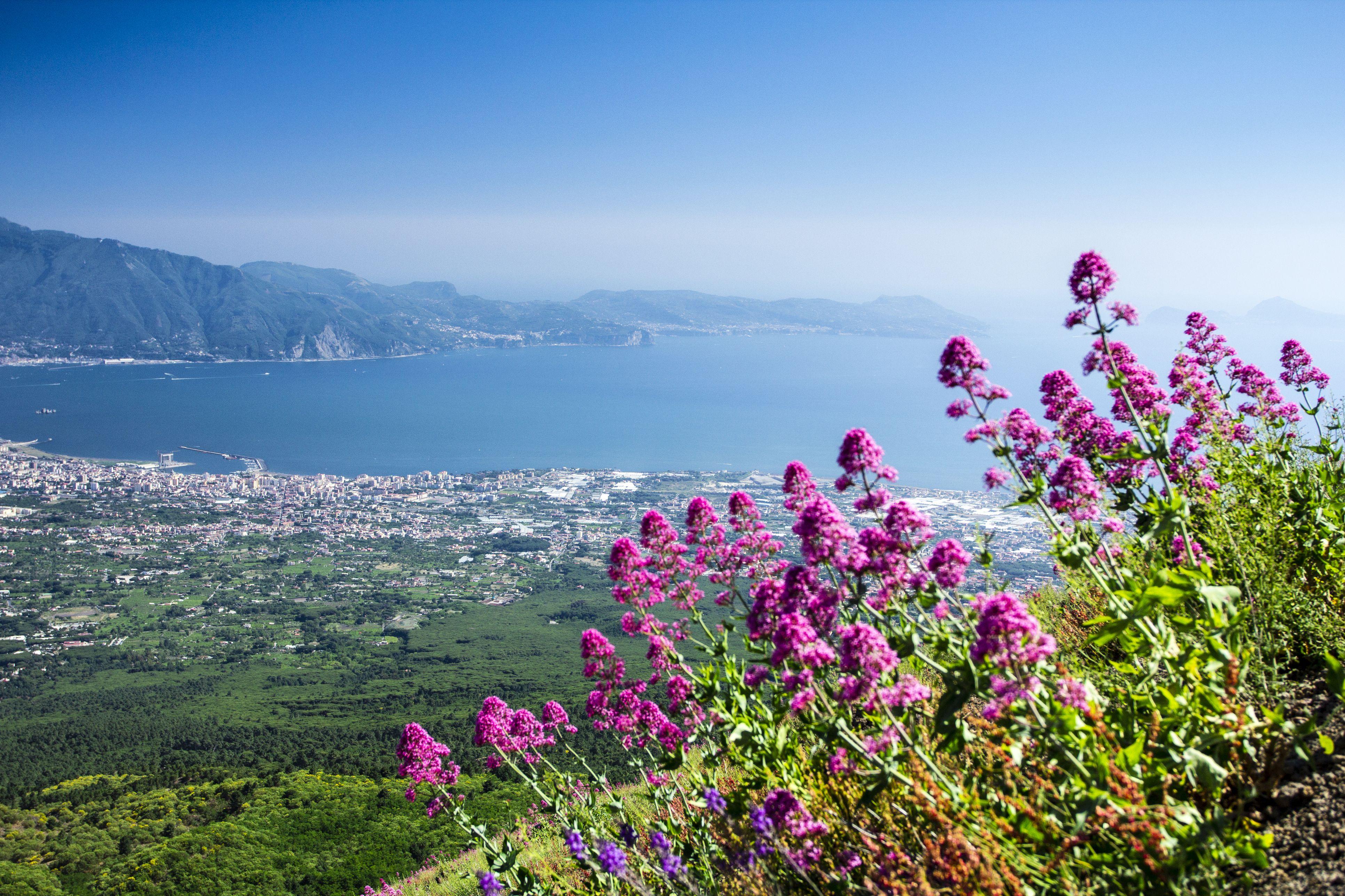 View from Mount Vesuvius to Sorrento
