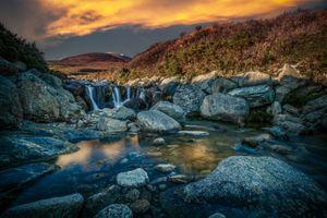 waterfall on Slieve Donard Northern Ireland