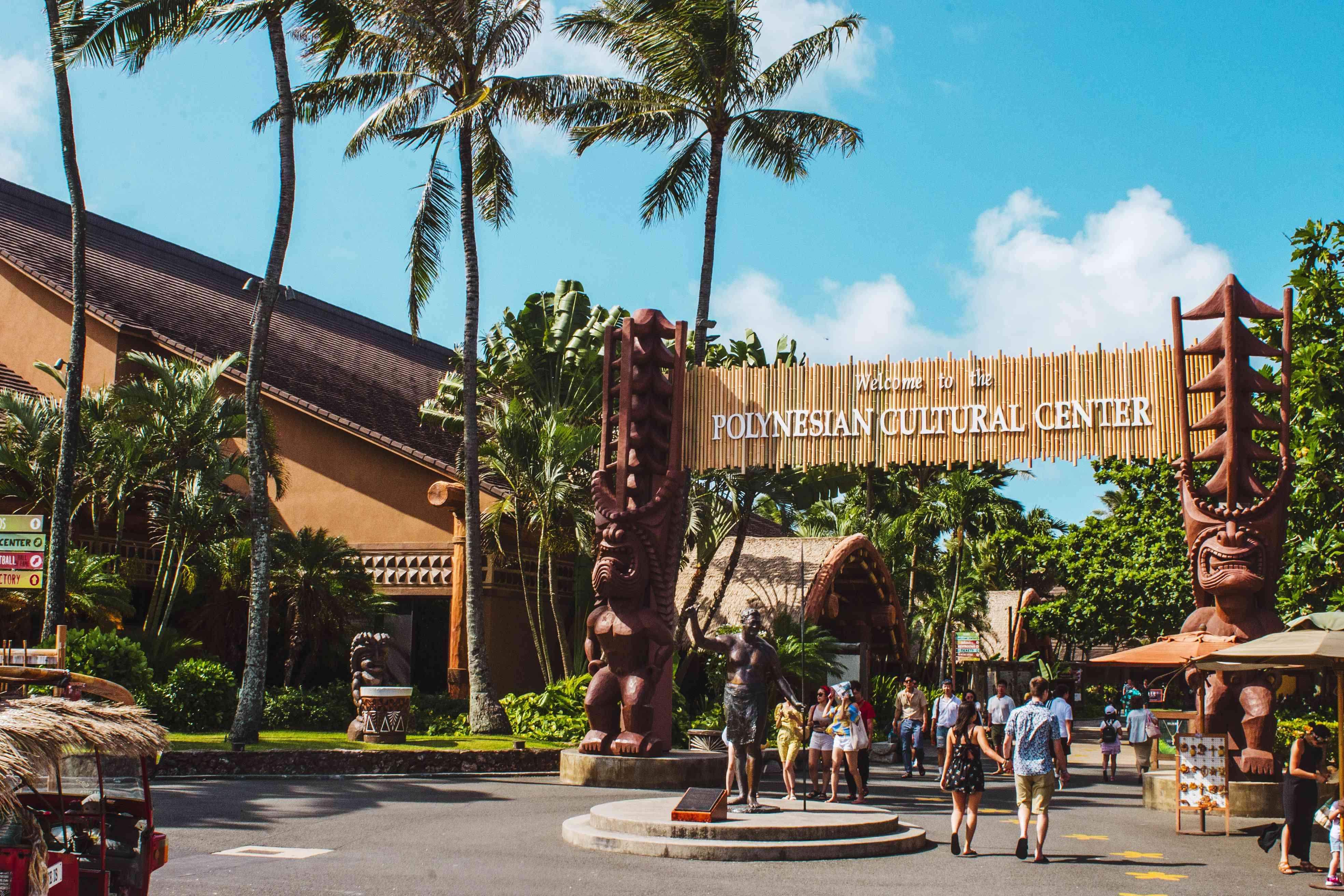 Entrance to the Polynesian Cultural Center