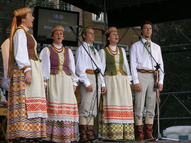 Women's and Men's Lithuanian Folk Costumes