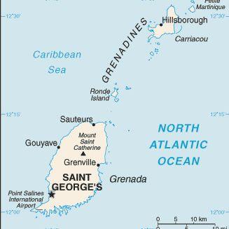 Caribbean Cruise Map of Grenada