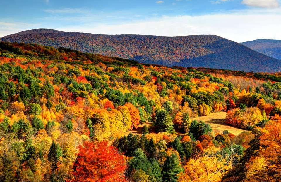 Autumn in the Berkshires region of Massachusetts