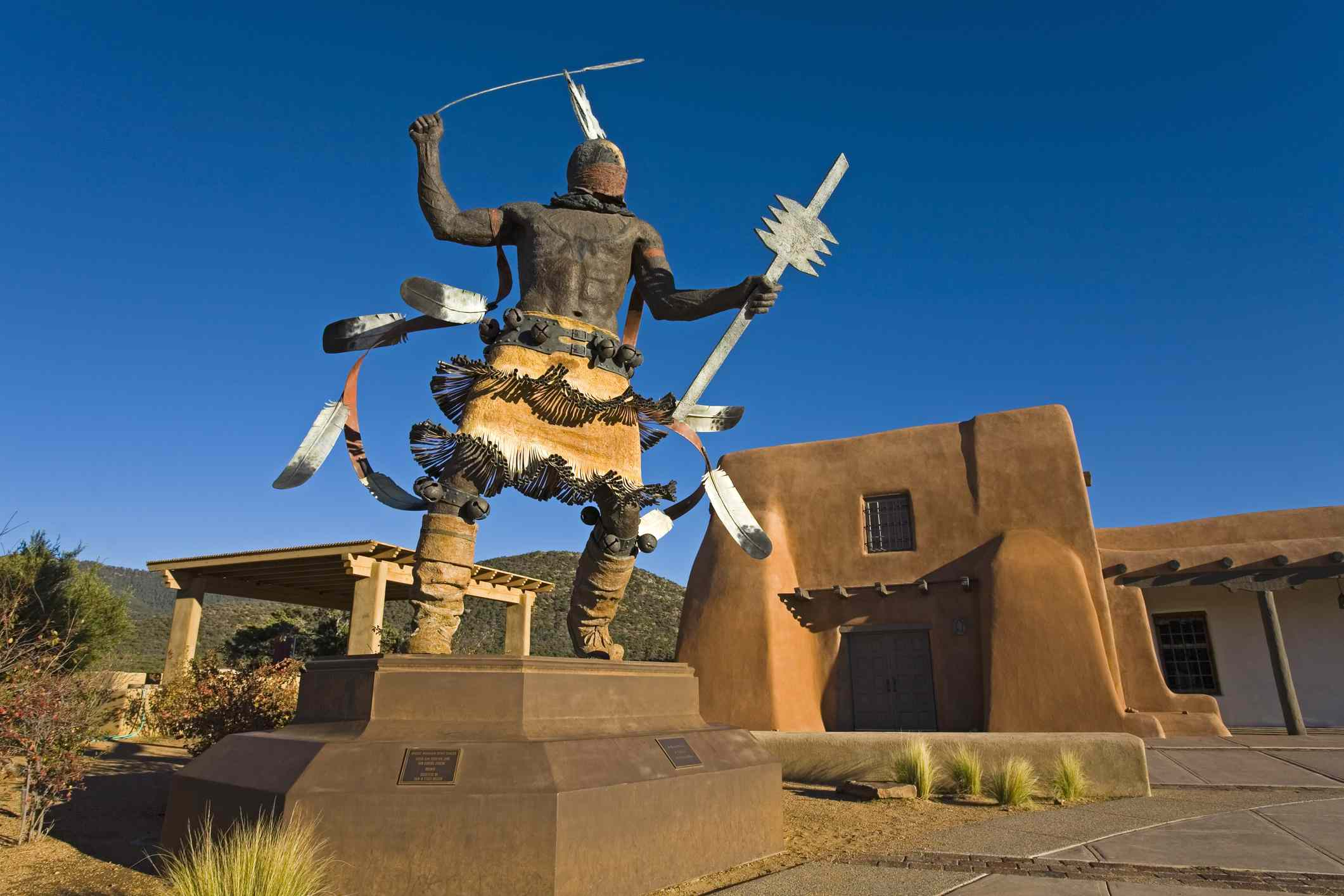 Apache Mountain Spirit Dancer sculpture in Goseyun & Antropology Laboratory, New Mexico Museum, Museum Hill