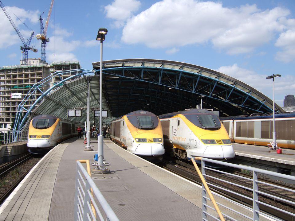 Los trenes Eurostar en Waterloo International