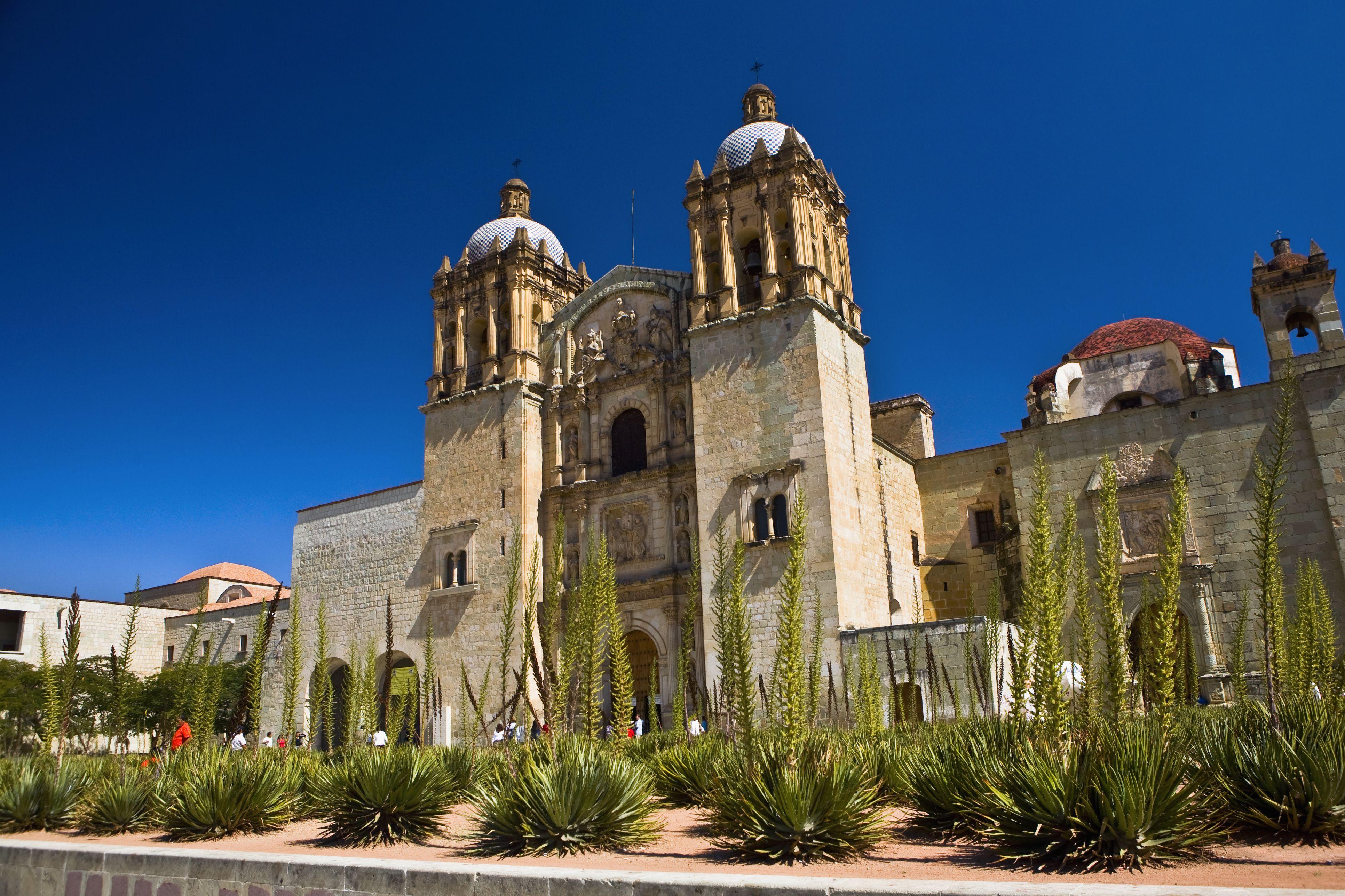 Low angle view of Santo Domingo De Guzman Church, Oaxaca, Oaxaca State, Mexico