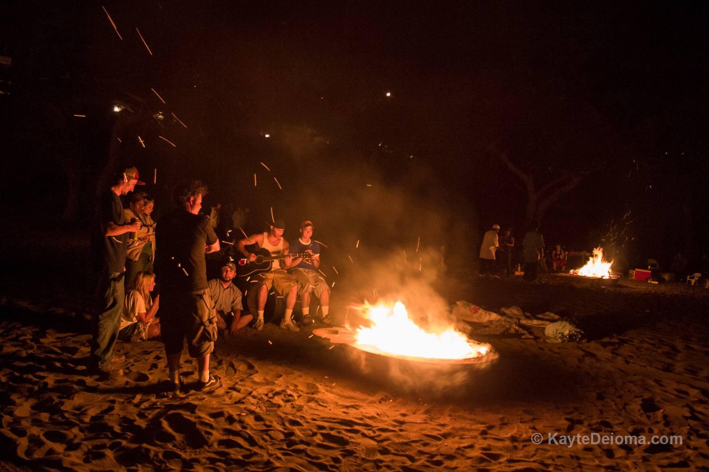 Bonfires at Cabrillo Beach, San Pedro, Los Angeles, CA
