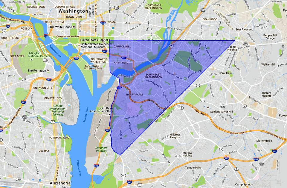 SE Washington DC: A Map and Neighborhood Guide