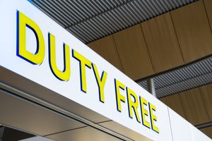 Duty Free Shopping Sign