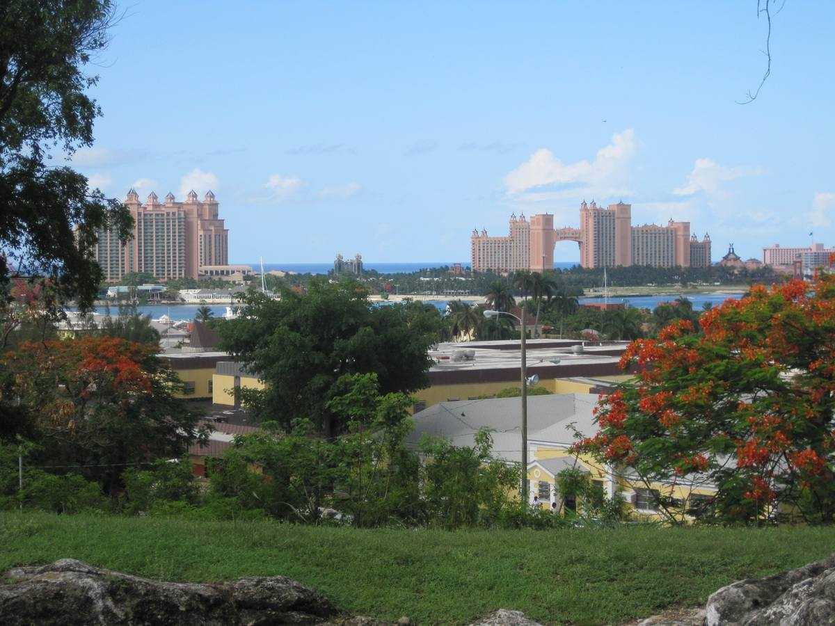 View of Paradise Island from Fort Fincastle in Nassau