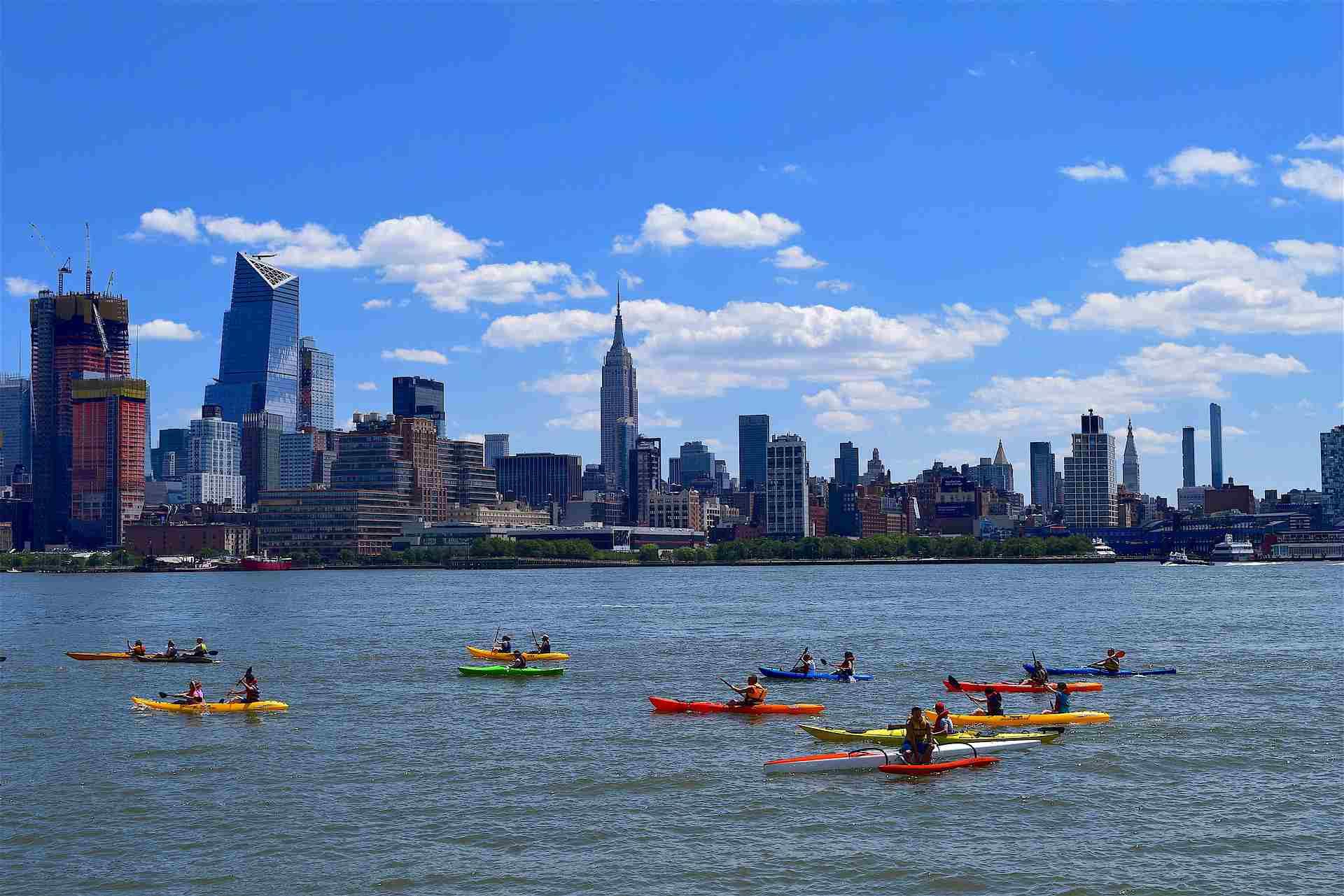 Kayak in the Hudson River